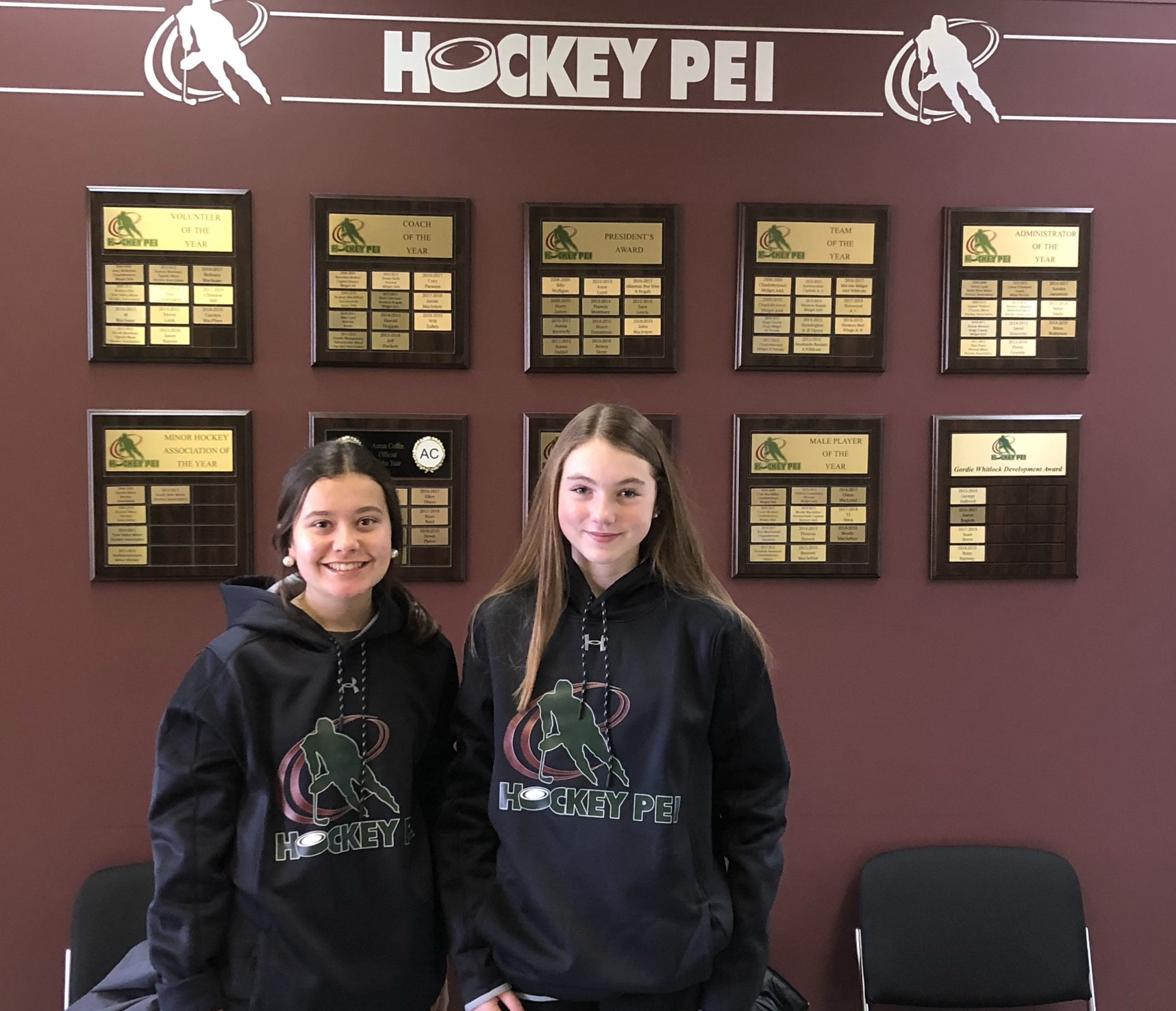 Marshall and Mason Selected to Represent Hockey PEI at IIHF Global Girls Game