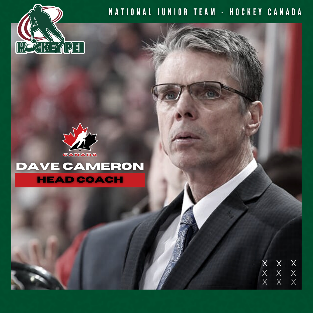 PEI'S DAVE CAMERON NAMED HEAD COACH OF CANADA'S WORLD JUNIORS SQUAD